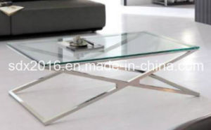Clear Temper Glass Coffee Table Modern Home Furniture pictures & photos