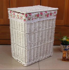 (BC-WB1021) High Quality Handmade Natural Willow Laundry Basket/Gift Basket pictures & photos