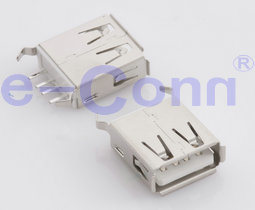 USB 2.0 Type a Receptacle Vertical DIP PCB End pictures & photos