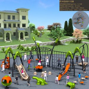 Kaiqi Children′s Playground Set with Climbing, Slides and More! (KQ50113B) pictures & photos