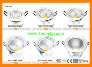 Hot Sales Super 5W/7W/9W/12W/25W LED Downlight pictures & photos