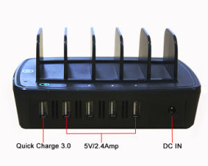 2016 Multiple 5 Port USB Charging Station QC 3.0 Charger pictures & photos