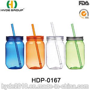 Wholesale 20oz BPA Free Single Wall Plastic Mason Jar (HDP-0167) pictures & photos
