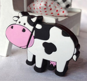 Cartoon Animal Dairy Cow USB Flash Drives with Keychain Pendrive pictures & photos