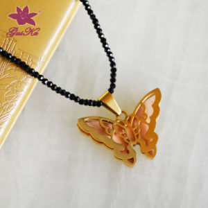 More Fashionable Spinel Necklace with Butterfly Pendant Gus-Fsnp-009