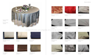 100% Cotton Damask Table Cloth pictures & photos