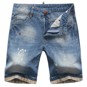 2016 Men′s Fashion Cotton Denim Shorts pictures & photos