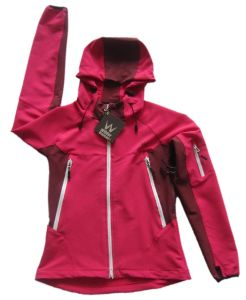 Lady′s High Quality Soft Shell Jacket with Hood