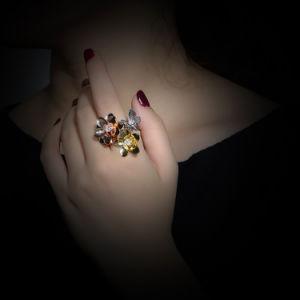 New Model Adjustable Size Rose Gold Flower Design Ring pictures & photos