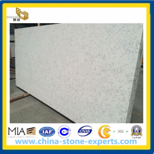 White Marble Quartz Slab for Countertop, Vanity Top pictures & photos