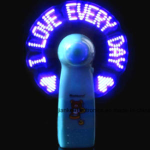 China Factory Wholesale LED Text Message Fan with Logo Printed (3509) pictures & photos