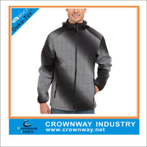Top Fashionable Comfortable Checked Waterproof Softshell Jacket for Men pictures & photos