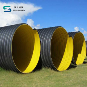ISO Certificate Steel Band Reinforced HDPE Spiral Corrugated Pipe Manufacturer pictures & photos