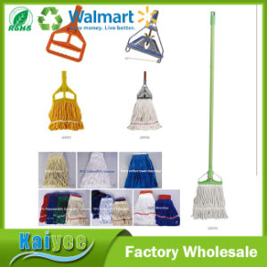 Plastic Replaceable Floor Cleaning Mop Head with Wooden Handle pictures & photos