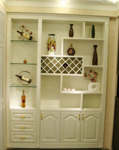 Indoor Tall Wine Rack/Showing Rack with Bookcase pictures & photos