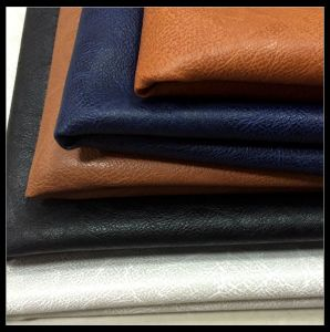 Synthetic PVC PU Leather for Sofa, Bag, Furniture(Hx-1085 pictures & photos