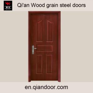 Teak Sapele Oak Black Walnut Veneer Steel Door pictures & photos