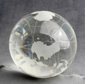 Crystal Sandblasting Globe Clear Crystal Ball pictures & photos