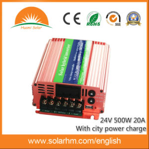 (HM-24-500) 24V 500W Hybrid Inverter Can with City Power pictures & photos
