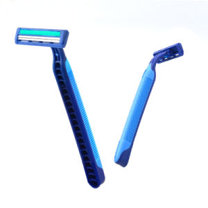 Twin Blade Disposable Shaving Razor, Stainless Steel