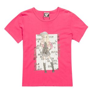 China Soft 100% Cotton Ladies Tshirts Print Design (TS039W) pictures & photos