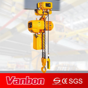 Vanbon 3ton Electric Chain Hoist 3 Phase Dual Speed with Trolley pictures & photos