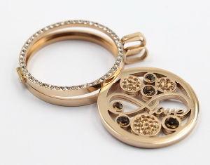 Fashion Slim Edge Locket Pendant with Full of Zironia Jewelry pictures & photos