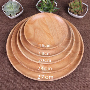 Multisize Round Platter Bamboo Serving Tray Plate Snack Serving Dish pictures & photos