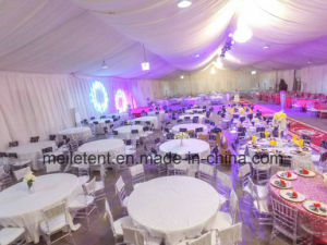15*40m Lining Decoration Wedding Tent with Chandelier pictures & photos