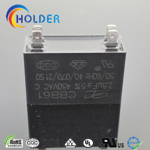 Metallized Polypropylene Fan Capacitor (Cbb61 255j/450VAC) for Fan Motors Fan Spare Parts with 4 Pins Black Box Start Motor Run pictures & photos