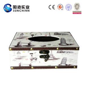 Tissue Box Vintage Wood Decoration Box (SCTB00003)