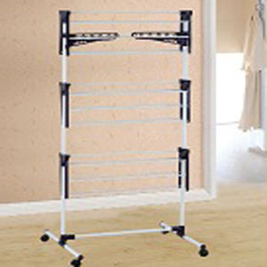 Powder Coated Steel Three Layer Clothes Drying Rack pictures & photos
