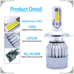 Hot Sale LED Headlight H4 with HID Xenon Kit 45W Ballasts and High Quality of LED Bar Light pictures & photos