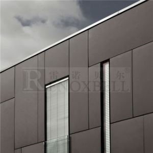 Coffee Color Flat Metal Facade Panel for External pictures & photos