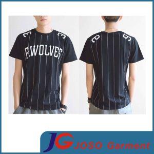 Short Sleeves Black T Shirt Design Men′s Shirt (JS9011m) pictures & photos