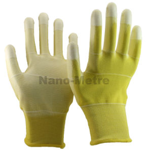 Nmsafety U3 Style Polyester Anti Slip PU Coated ESD Glove pictures & photos