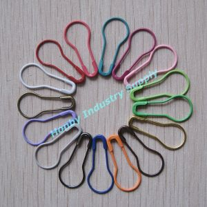 Hot Selling 22mm Colorful Metal Pear Shaped Safety Pin pictures & photos