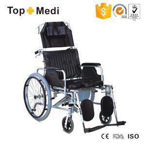 Topmedi Aluminum Reclining Manual Commode Wheelchair Tcm654lgcu pictures & photos