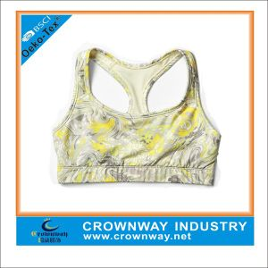 Wholesale Sexy Ladies Comfortable Yoga Sports Bra with Sublimation Printing pictures & photos