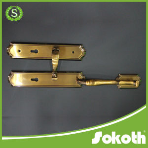 Hot Sale European Big Zinc Alloy Main Door Handle pictures & photos