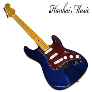 Hanhai Music / St Blue Electric Guitar with Red Shell Pickguard pictures & photos