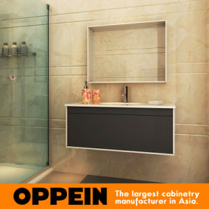 Oppein Modern Lacquer Bathroom Cabinets with Tempered Glass Top (OP15-201C) pictures & photos