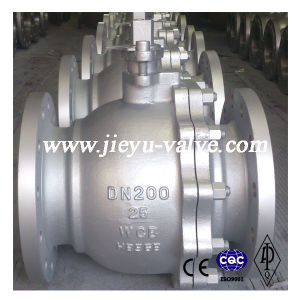 DIN Pn16 Dn100 Carbon Steel Lever Operated Ball Valve pictures & photos
