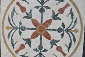 Waterjet Marble Stone Flooring Tile Floral Mosaic Pattern Tile