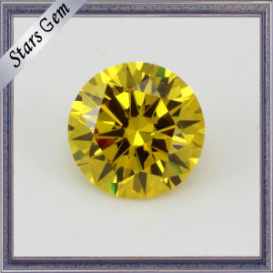 Top Quality Dazzling Bright Yellow Star Cut Synthetic Cubic Zirconia pictures & photos