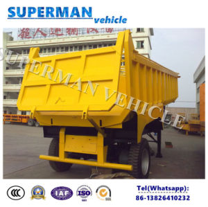 2 Axle Ushape Transport Cargo Tipper Trailer/ Dumper pictures & photos