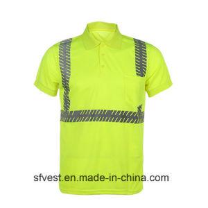 High Visibility 100% Polyester Birdeyes Safety Reflective Polo T Shirt pictures & photos
