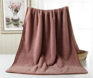 Cotton Deep Towel Coffee Bath Towel Brown Bath Towel Stock pictures & photos