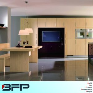 Light Yellow Cheap Laminated Kitchen Cabinet pictures & photos