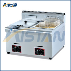 GF72 Hot-Sale Counter-Top Gas Deep Fryer of Catering Equipment Machine pictures & photos